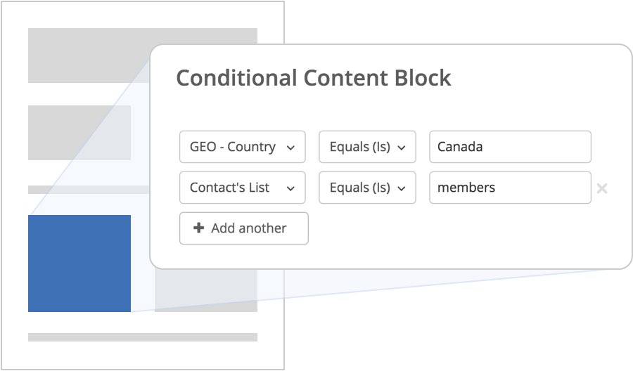 ActiveCampaign Conditional Content