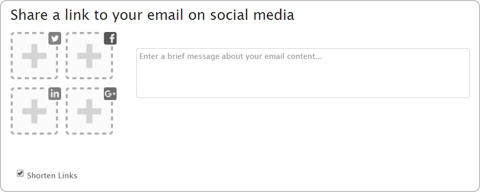 iContact Social Media Sharing