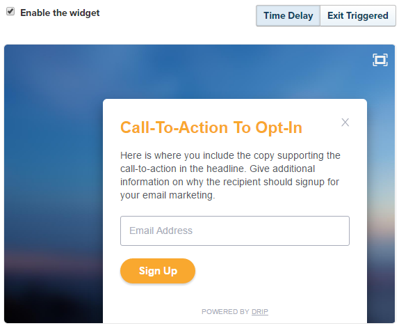 Floating Opt-In Widget